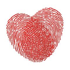 cœur - amour - amoureux - symbole - union - couple - empreinte - ensemble - sentiment