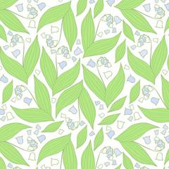 Spring flowers pattern.