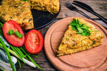 healthy and delicious cabbage pie