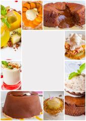 page de desserts