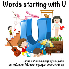 Poster design forwords starting with U