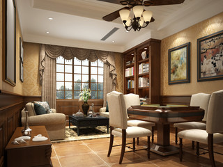 3d render of living and dining room