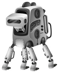 Modern robot with four legs