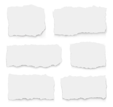 Set of torn paper different shapes. collection of ripped paper. Vector