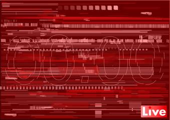 Test Screen Glitch Texture, glitch tv, computer, live broadcast, stream, red background with numbers glitch, bug