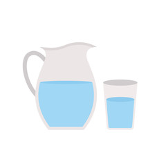 Jug icon isolated on white background. Water in glass. Vector stock.