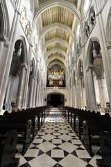 Innenansicht, Catedral de Nuestra Señora de la Almudena, Santa María la Real de La Almudena, Almudena-Kathedrale, Madrid, Spanien, Europa