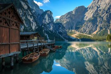Spiegelung im Pragser Wildsee, Lago di Braies Südtirol_004