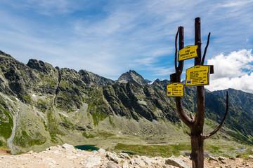 Wall Mural - Beatuiful view on High Tatras mountains in Slovakia