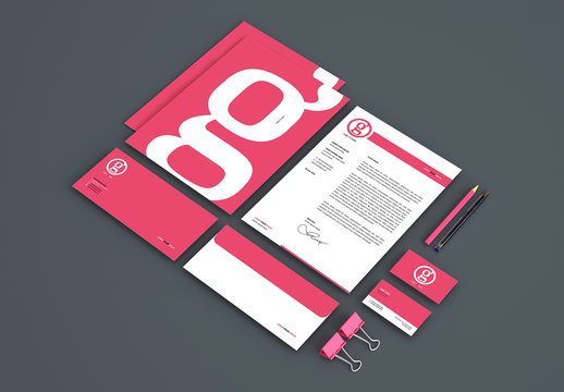 Colorful Letterhead and Branding Kit