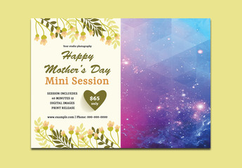 Mother's Day Photography Mini Session Flyer Layout