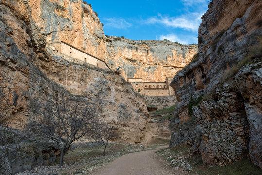 River canyon Mesa and jaraba monastery
