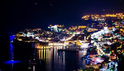 Stunning panorama of Dubrovnik with old town and Adriatic sea,Dalmatia,Croatia,Europe