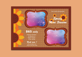 Photography Mini Session Spring Special Flyer Layout