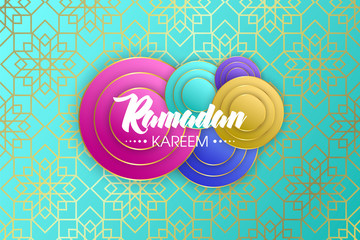 Ramadan Kareem Arabic calligraphy, Ramadan Kareem beautiful greeting card with arabic calligraphy, template for menu, invitation, poster, banner, card for the celebration of Muslim festival, sale.