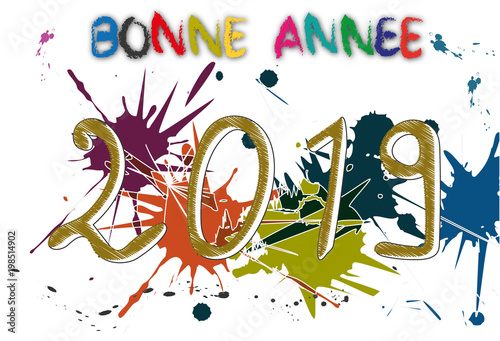 Bonne ann e 2019 stock image and royalty free vector files on pic 198514902 - Image gratuite bonne annee ...