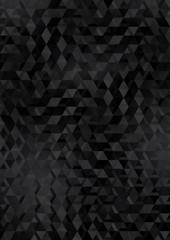 black abstract background with geometrical shapes