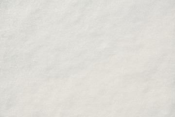 white even sparkling snow. texture uniform background. top view