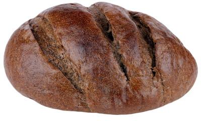 dark bread on isolated