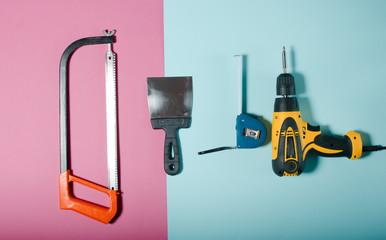 tool for repair of apartments. home repair concept