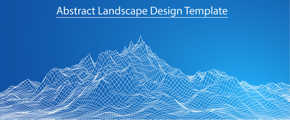 3D Wireframe Landscape