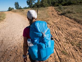 woman walking on Camino de Santiago