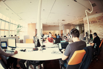 startup business people group at office