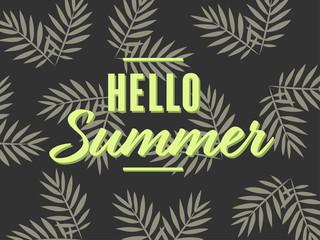 hello summer – card template