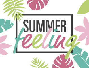 summer feeling – colored card template
