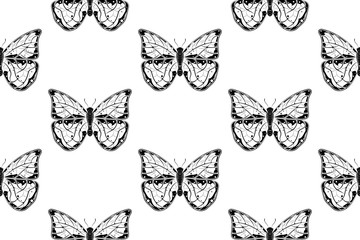Butterflies. Seamless pattern