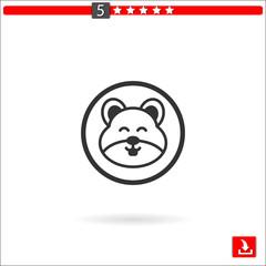 hamster vector icon