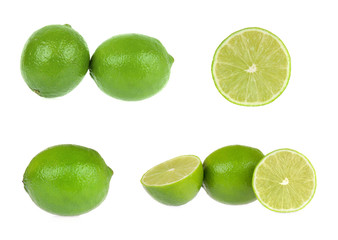 Lime. Collection isolated on white background