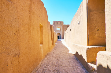 The medieval streets of Rayen Fortress