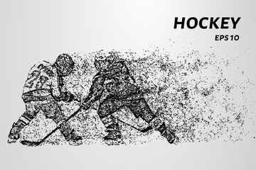 Hockey from the particles. Hockey consists of circles and points. Vector illustration.