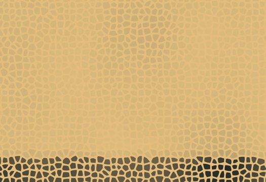 Beige and brown mosaic stony gems savannah safari colored empty background copyspace