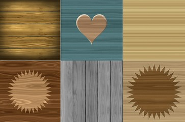 Set of wooden cosy homely beige brown blue wood texture design mix