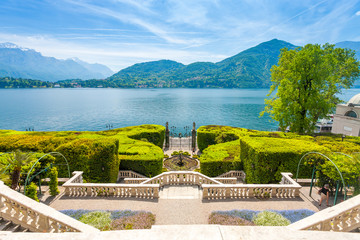 Villa Carlotta  at Tremezzo on lake Como Italy.