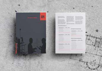 Diseño de informe anual minimalista