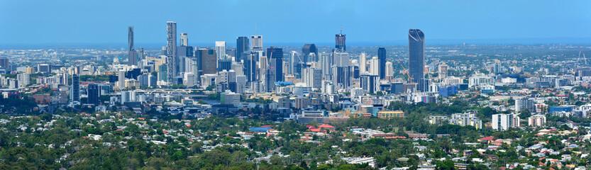 View over Brisbane, Australia.