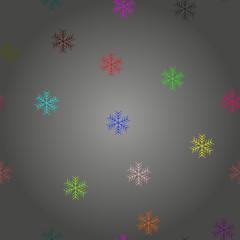 Winter Seamless colorful Snowflake Pattern. snowflakes seamless