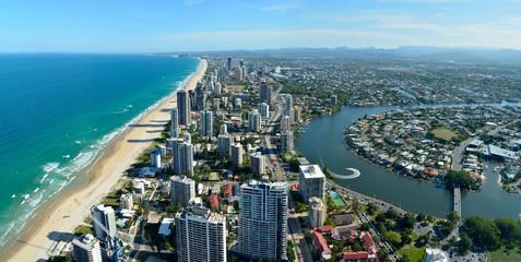 Foto op Canvas Oceanië View over Surfers Paradise and Nerang river in Queensland, Austr