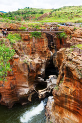 Bourkes Luck Potholes canyon scenery, South Africa
