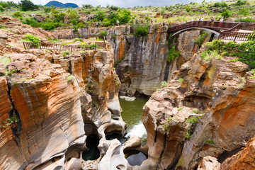 Bourke's Luck Potholes canyons, South Africa