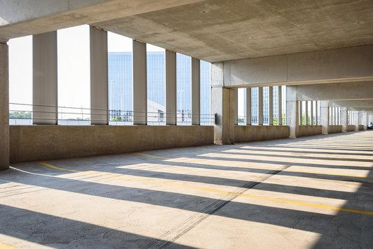 empty parking garage in city