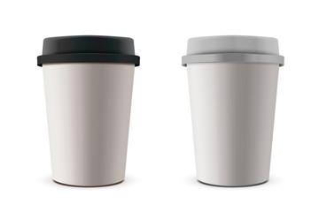 Takeaway paper cup mockup