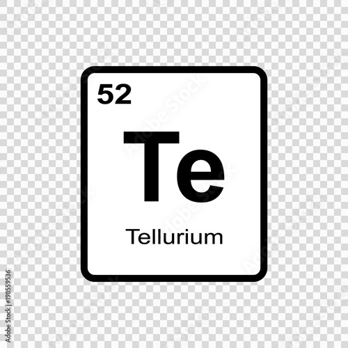 Chemical Element Tellurium Stock Image And Royalty Free Vector