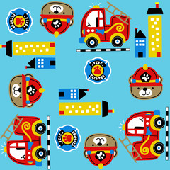 Pattern vector with firefighter. Eps 10