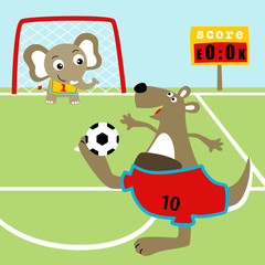 Animals soccer cartoon. Eps 10