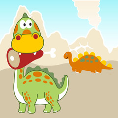 Dinosaurs cartoon. Eps 10