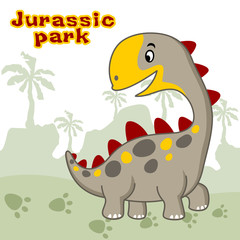 Dinosaur cartoon vector. Eps 10